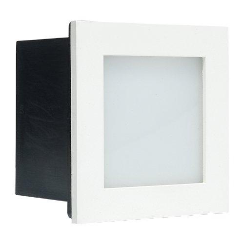 Preisvergleich Produktbild LED Treppenbeleuchtung Bilbao Weiß / Treppenstufenbeleuchtung / Treppenleuchten / Stufenbeleuchtung / Treppe Beleuchtung / Treppenlicht / 1W / Moderne / Innen / Eckig / 230V / IP44 / Warmweiß