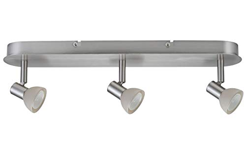 Paulmann 66525 Spotlights Mini Sheela Balken 3x35W GU4 Nickel gebürstet 12V 105VA Metall/Glas