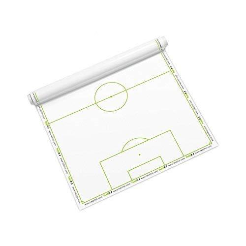 Taktifol Fußball | Selbsthaftende Taktik-Folie | trocken abwischbar | wiederverwendbar | Ersatz für Taktiktafel