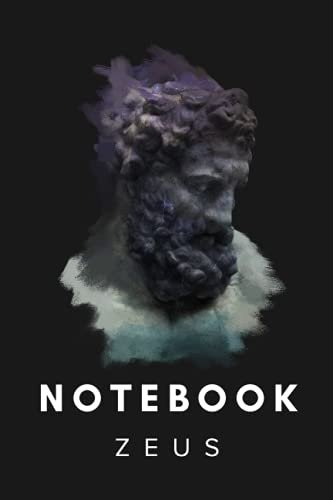 Zeus 3D Statue Art Notebook 6x9
