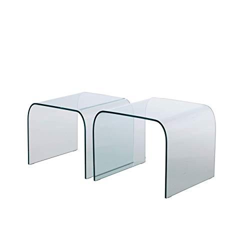 Mod. Rialto - Paar gebogene Glastische