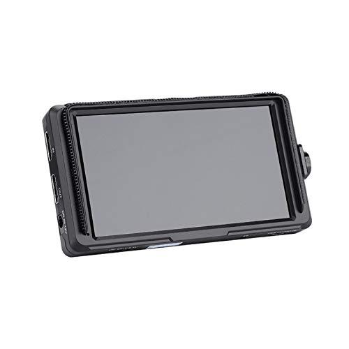 DAUERHAFT Monitor de cámara con Pantalla IPS fácil de Transportar y almacenar, con un Orificio de Tornillo de 1/4 ''