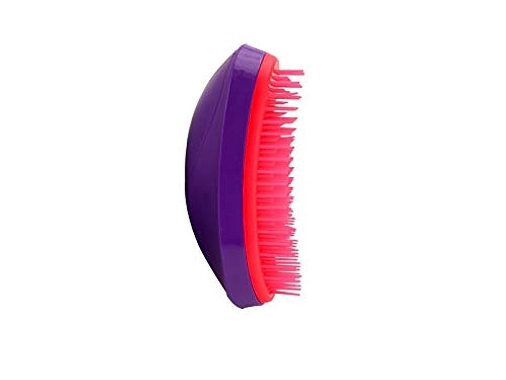 王子ゼリー兵士耐久性 マウスタイプの櫛帯電防止美容櫛マッサージプラスチック櫛(紫)
