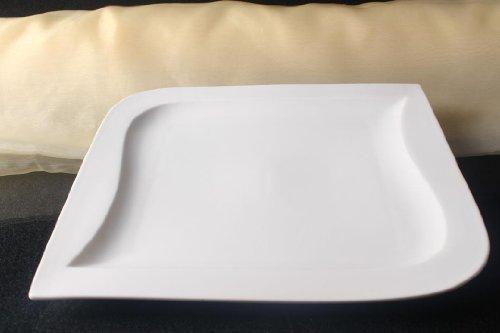 Teller Servierteller Servierplatten Porzellan Weiß Gastronomiebedarf ca.31x31