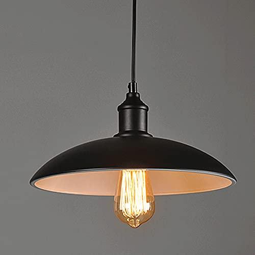 CHENBAI Lámpara de araña retro con tapa de olla, lámpara de suspensión industrial de hierro forjado de estilo vintage, luces colgantes nostálgicas E27, personalidad de la cafetería, tienda de ollas ca