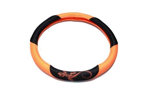 UNITEC 75387 Lenkradhülle Reptilia, orange
