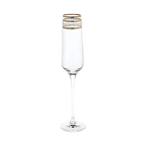 CRISTALICA Sektglas Charisma Golden Flower Schampus Prosecco Champagner 150ml klar Panto