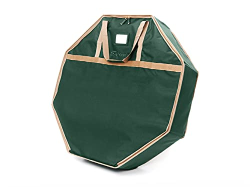 Covermates Keepsakes Christmas Wreath Storage Bag – Heavy Duty Polyester, Dual Zipper Pulls, Reinforced Handles - Holiday Storage-Green