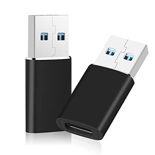 2 PCS Adaptador USB C 3.0, USB 3.0 Hembra a Macho,Convertidor USB, Compatible Computadoras Portátiles, Fuentes de Alimentación...