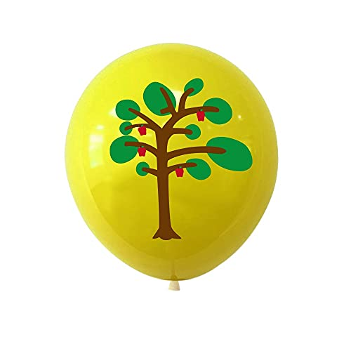 AngYou 12 Pulgadas de látex Piggy Children Dibujos Animados Peppa Fiesta de cumpleaños Theme Blowoon Decoration Supplies10 / 20/30/40 / 50cps (Color : Yellow, Quantity : 10pcs)