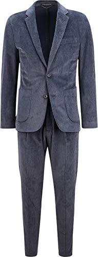 Drykorn Herren Cord-Anzug in Dunkelblau 52 / XL