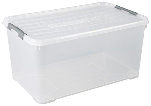Allibert 225555Handy Box mehr Deckel Clip transparent Kunststoff 80x 50x 39cm 115L
