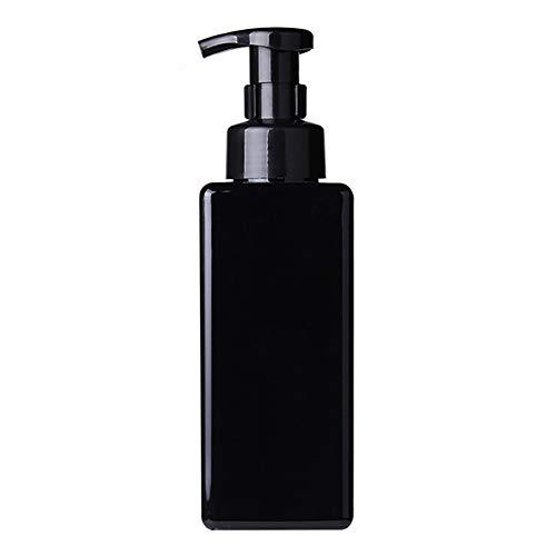 LPxdywlk 650ml Baño Cuadrado Jabón líquido Mousses Espumante Dispensador de Gel de Ducha Botella Conveniencia para Viaje, Saliente Black 650ml