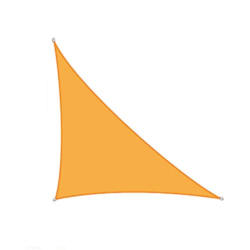 CH-GTJ Toldo Vela De Sombra Triangular Protección Rayos UV, Resistente Y Transpirable para Patio Exteriores Jardín,Light Orange,3X4X5m