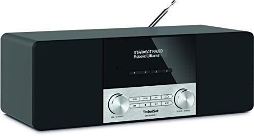 TechniSat DIGITRADIO 4 - Stereo DAB Radio (DAB+, UKW, Bluetooth-Audiostreaming (Empfang), Kopfhöreranschluss, AUX-Eingang, Radiowecker, OLED Display, 20 Watt RMS, Elac Lautsprecher) schwarz