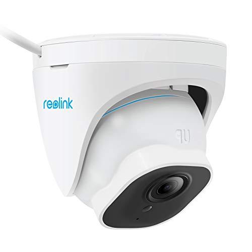 Reolink 4K Cámara de Seguridad PoE Exterior con 3X Zoom Óptico, con Detección de Personas/Vehículos, Cámara IP Domo Alertas Inteligente, IP66 Impermeable, Grabación de Audio, Lapso de Tiempo, RLC-822A