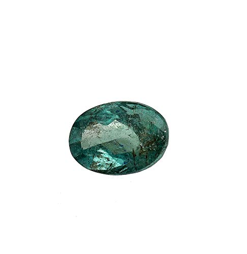 Jaipur Gems Mart GTL Certified 1.25 Cts Faceted Oval Shape Cut Rich Green Good Luster Zambian Emerald Panna Loose Gemstone Piece for Jewelry Making Ring Size 7.90 x 5.50 x 4.50 mm Clear Emerald A++++