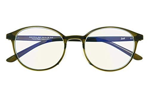 ボストン型 PCメガネ(度なし) Zoff PC ULTRA TYPE(ブルーライトカット率約50%) ゾフ PC 透明レンズ パソコン用メガネ PCめがね PC眼鏡 メンズ レディース おしゃれ【49□19-138】