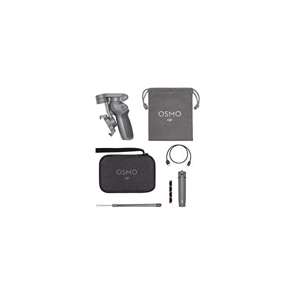 RetinaPix DJI Osmo Mobile 3 Combo - 3-Axis Smartphone Gimbal Handheld Stabilizer Combo (Grey) | with Carrying case and OSMO Grip Tripod | Vlog Live Video for iPhone Android
