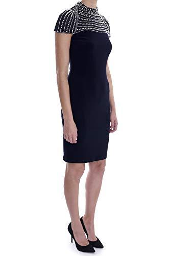 Joseph Ribkoff Cap Sleeve Jewel Trim Sheath Dress Style 183422 Size 14