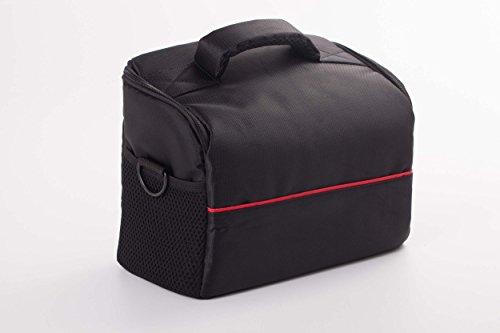 vhbw Funda Universal XL Negro-Rojo para cámara, videocámara Nikon CoolPix L330, L830, L840, P520, P610