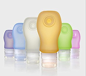 Silicone Leakproof Voyage Bouteille Rechargeable & Squeezable Containers Petit Parfait pour Toiletries liquides Paquet de 3 Bouteilles Grand 37ml/60ml/89ml de
