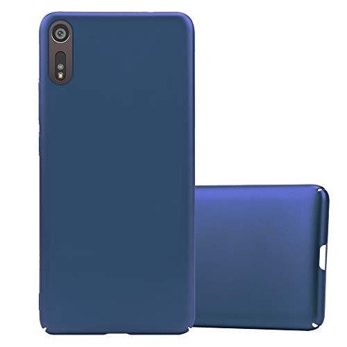 Cadorabo Coque pour Sony Xperia XZ/XZs en Metallic Bleu - Housse Protection Rigide en Plastique Dur avec Anti-Choc et Anti-Rayures - Ultra Slim Fin Hard Case Cover Bumper
