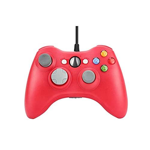 MKCUXC Controladores Controlador de Juegos de PC con Cable USB para Xbox360 Consola Joypad para PC Windows 7/8/10 Joystick Controle Mando Gamepad Controladores de conmutación (Color : Red)
