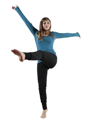 Leela Cotton Damen Freizeit, Yoga Hose Bio-Baumwolle (M, Schwarz)