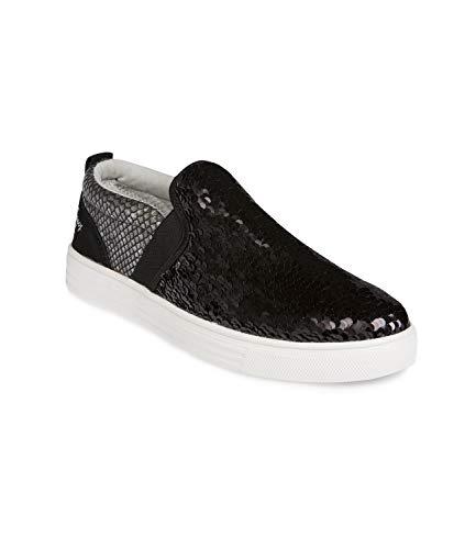 SOCCX Damen Slip-On-Sneaker mit Pailletten
