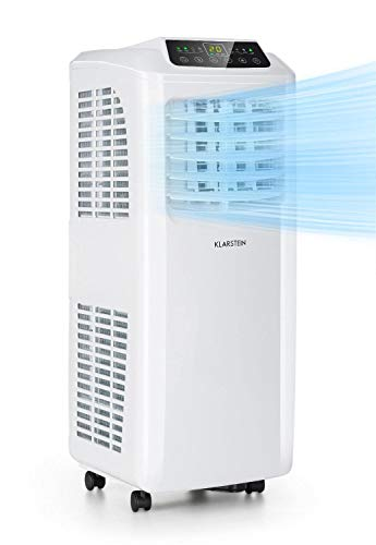 KLARSTEIN Pure Blizzard Smart - Condizionatore Portatile 3in1: Climatizzatore/Deumidificatore/Ventilatore, Wi-Fi: AppControl, incl. Guarnizioni Finestre, Timer 24h, 7.000 BTU/2,1 kW, 21-34 m², Bianco
