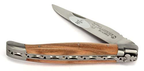 LAGUIOLE en Aubrac Taschenmesser L0211POIF 11 cm, Griffschalen Apfelbaum, Messer Klinge 9 cm matt, Backen matt