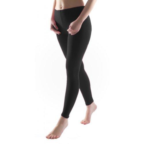 Bunte Mädchen Leggings lang aus Baumwolle Kinder Leggins in verschiedenen Farben, Farbe: Schwarz, Größe: 128-134