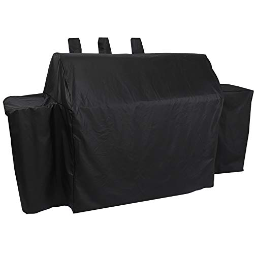 ProHome Direct Heavy Duty Waterproof Grill Cover for Char-Griller Duo 5050/5650 Double Play with Side Fire Box