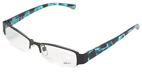 ハックベリー ちょっとおしゃれな老眼鏡 ( +3.0度 UVカットレンズ ) ハーフフレーム ブルー系 ( 青 ) H012S3