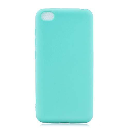 cuzz Funda para Xiaomi Redmi GO+{Protector de Pantalla de Vidrio Templado} Carcasa Silicona Suave Gel Rasguño y Resistente Teléfono Móvil Cover-Azul Claro