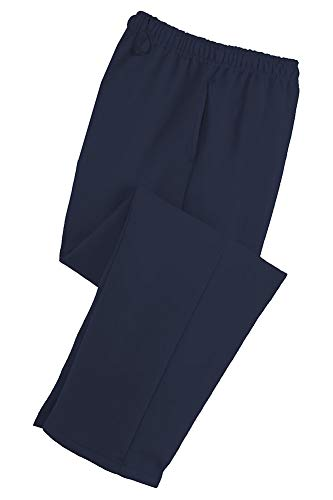 Adult Soft and Cozy Classic Style Open Bottom Sweatpants in 8 Colors Navy