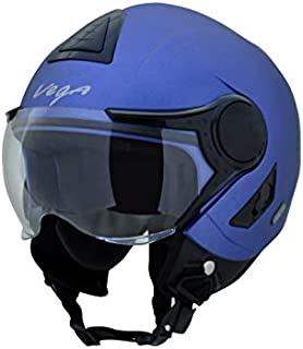 Vega Verve Open Face Helmet (Women's, Dull Blue, M)