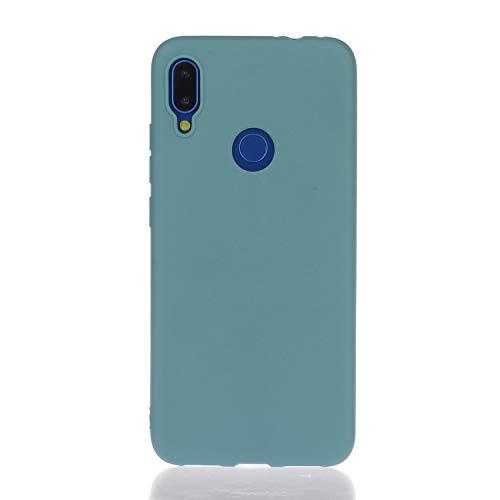 Everainy Funda Compatible para Xiaomi Redmi Note 7 Silicona TPU Gel Color sólido Dibujos Cover Bumper Ultrafina Goma Case Caso Caucho Antigolpes (Azul 2)