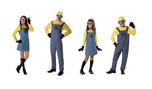LBA Disfraz Villano Amarillo. Esbirro. Niño. Niña. Varias Tallas. Adulto Hombre y Mujer. (Talla 11-14 años, NIÑA)