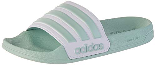 adidas Adilette Shower, womens Slide, Green Tint/Footwear White/Green Tint, 37 EU