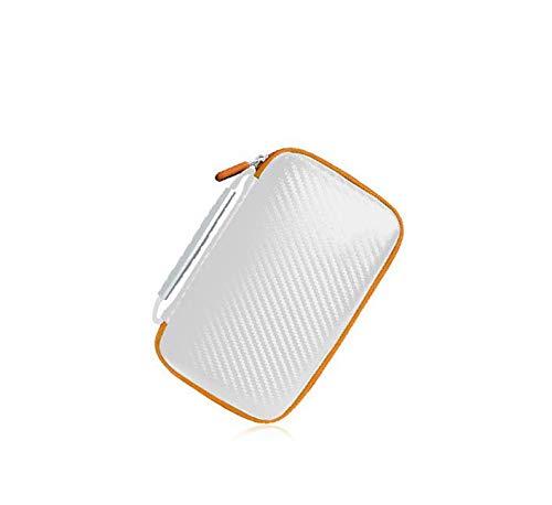 Yiwa EVA-Travel Case opbergtas voor Nintendo 2DS LL beschermhoes harde schaal draagbaar tas kaarthouder, Wit.