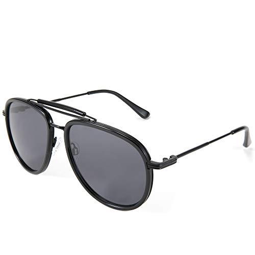 FEISEDY Clásicas Polarizadas Gafas de Sol de Aviador Marco de Metal Hombre Mujer B2700