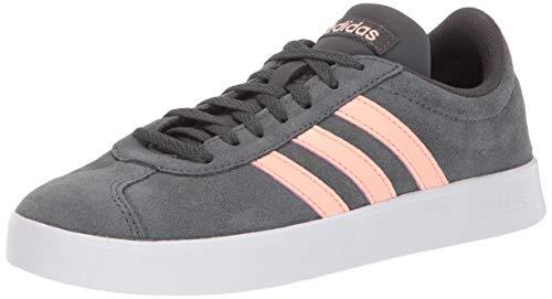 adidas Women's VL Court 2.0 Sneaker, Grey/Glow Pink/White, 8.5 M US