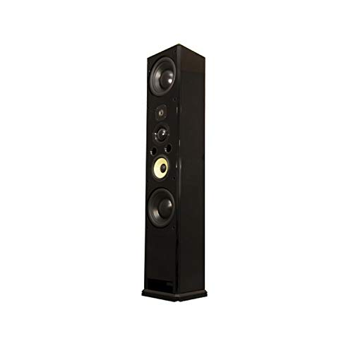 Induction Dynamics ID1 6.5 Switchable 3-Way/4-Way Tower Speaker Black Gloss
