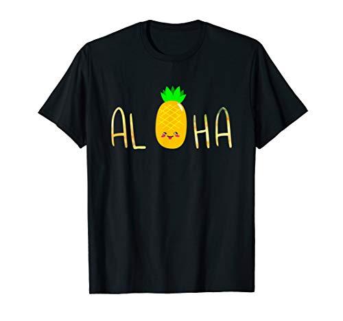 Pineapple Fruit Aloha Beaches Hawaii - Hawaiian T-Shirt