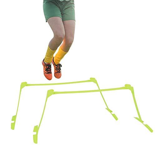 Tbest Obstáculos de Entrenamiento,2Pcs Obstáculos de Velocidad Obstáculos Agilidad Deportes Fútbol Rugby Running Entrenamiento de Velocidad Ajustable Valla de Velocidad de Entrenamiento Futbol