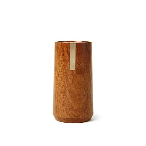 kaijunshop Portalápices con incrustaciones de madera de palisandro con soportes de escritorio de cobre, suministros de oficina, escuela, hogar, mesa, organizador de escritorio