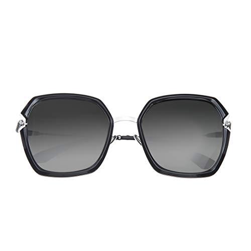 Bertha Teagan Gold Edelstahl Braun Quadratisch Polarisiert Damen Sonnenbrille BRSBR033BN, BRSBR033SL, Silber, BRSBR033SL