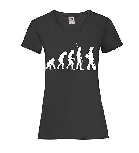 Shirt84.de Evolution Zimmermann Lady-Fit - Camiseta para mujer Negro XL